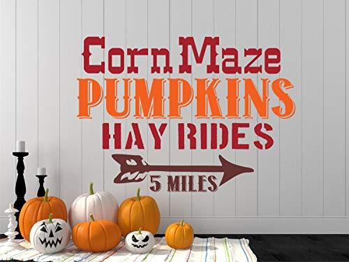 Corn Maze Pumpkins Hay Rides Halloween Decal Harvest Party Decor Fall Decor Fall Harvest Decorations Pumpkin Decor 24
