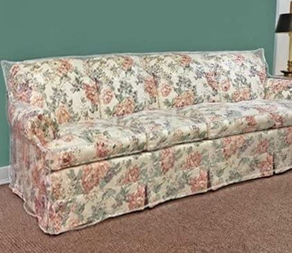 Clear Vinyl Furniture Protector - Large Sofa Cover - 108\