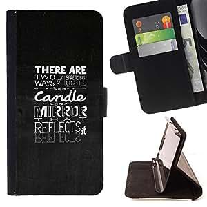 BullDog Case - FOR/Samsung Galaxy Core Prime / - / SPREADING LIGHT - TYPOGRAPHY /- Monedero de cuero de la PU Llevar cubierta de la caja con el ID Credit Card Slots Flip funda de cuer