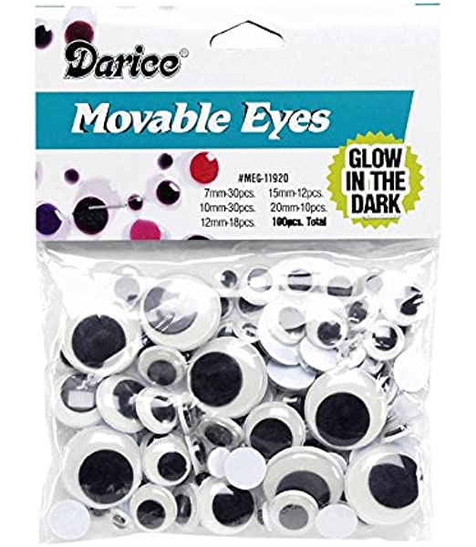 Paste On Wiggle Eyes-12mm 10Pcs for toys