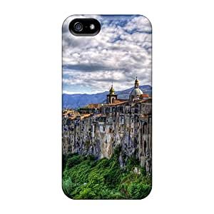 Iphone High Quality Tpu Case/ Awesome Nature QfpRS7122pTHIT Case Cover For Iphone 5/5s