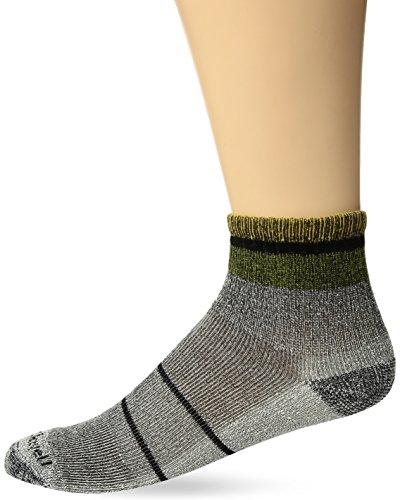 Sockwell Men's Tipped Off Classic Alpaca Quarter Hiker Socks, Black, Medium/Large