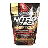 Cheap MuscleTech NitroTech Whey Gold, 100% Pure Whey Protein, Whey Isolate and Whey Peptides, Double Rich Chocolate, 1 Pound