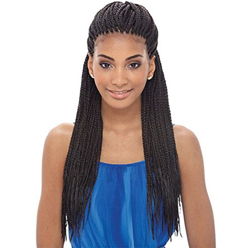PlatinumHair black braids synthetic lace front braided wig heat resistant for black women 24