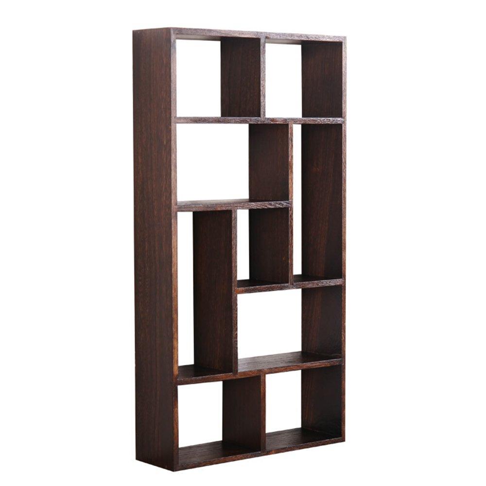 Living room wall storage shelves / Dormitory shelf / solid wood tea lattice shelf / wall hanging wall shelf / shelf / antique frame / (82 42 13cm) by Wall Shelves