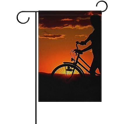 Amazon com : Sunset Dog Bike Silhouette Home Garden Yard