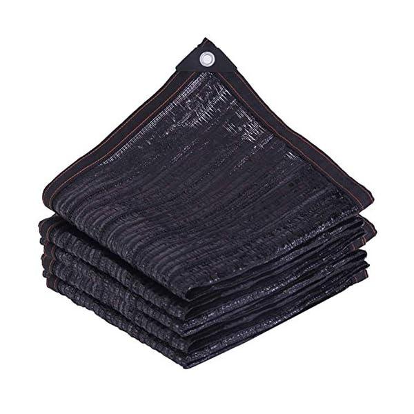 Giow - Telo protettivo per protezione solare in polietilene nero, 1 metro, 1 asola antipolvere, 21 misure (colore: nero… 1 spesavip