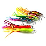 Cheap LEERYA 1PCS Octopus Squid Jig Soft Fishing Lure Hook Shrimp Tackle Fish Tool
