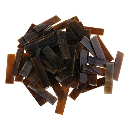 Brown Mosaic Glass - Baoblaze 80 Pieces Bulk Glass Mosaic Tiles Pieces Rectangle Strips for DIY Hobbies Art Craft Material Accessories 8 Colors to Choose - 10mm x 40mm - brown