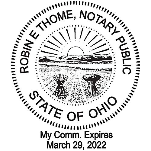 Round Notary Pre-inked Stamp for State of Ohio- Customized in one day with