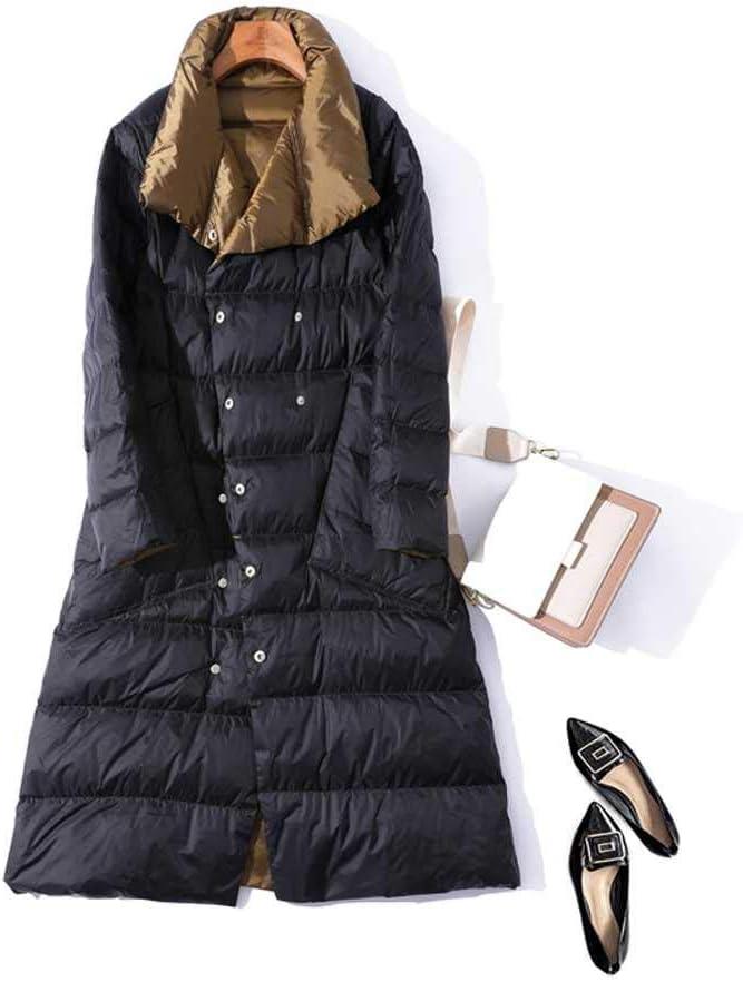 MCSZG 2019 Chaude Hiver Nouvelle Vente Double c/ôt/é Femmes Doudoune///Longue Mode Manteau /à Double Boutonnage Manteau Femme Duvet de Canard Blanc