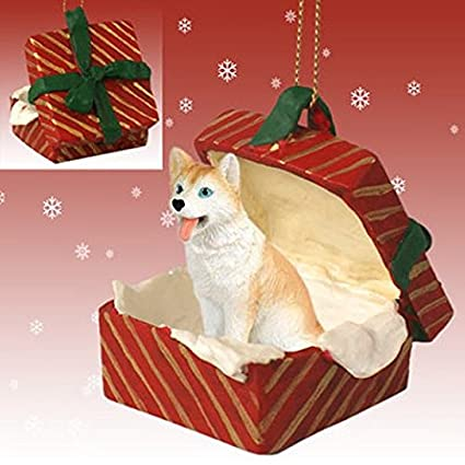 Amazon Com Red White With Blue Eyes Siberian Husky Red Gift Box