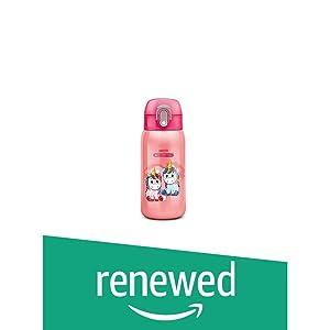 (Renewed) Milton Jolly 375 Thermosteel Kids Water Bottle, 300 ml, Pink