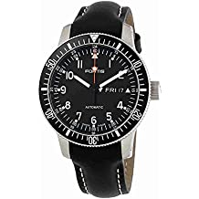 Fortis Official Cosmonauts Automatic Black Dial Black Leather Mens Mens Watch 6471011L01
