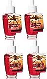 Bath and Body Works 4 Pack Pumpkin Apple Wallflower Fragrance Refill 0.8 Oz