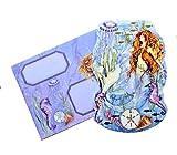 Punch Studio Set of 10 Gold Foil Embellished Blank Note Cards ~ Fancy Die-Cut Mermaid 61650