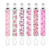 Baby Pacifier Clips by Upsimples - 6 Pack - Baby Pacifier Holder