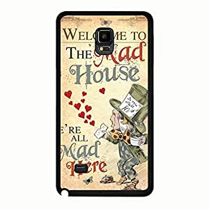 Welcom To The Mad House Retro Alice In Wonderland Phone Case Cover For Samsung Galaxy Note 4