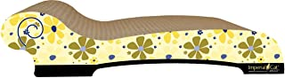 product image for Imperial Cat Chaise Scratch 'n Shape, Retro Yellow Floral