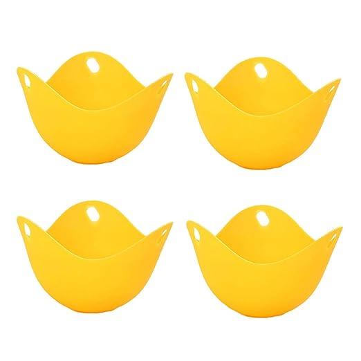 Winice - Moldes para escalfadores de Huevos para microondas, 4 ...