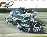 3X AUTOGRAPHED Dale Earnhardt Jr. / Chase Elliott / Kevin Harvick 2017 Daytona International Speedway (Monster Energy Cup Series) Signed Collectible Picture NASCAR 8X10 Inch Glossy Photo with COA