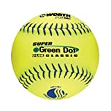 Worth 11-Inch USSSA Stamped Slowpitch WUC11SU Optic Yellow Protac Cover Ball in a box (Pack of 12)