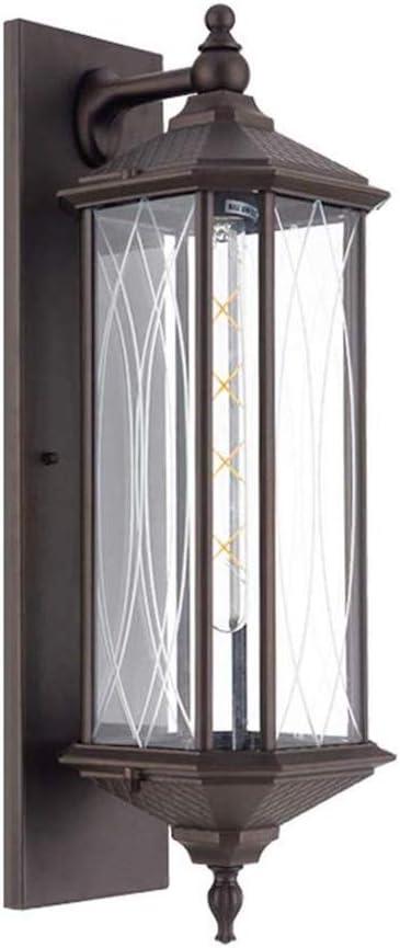 QJGhy Lámpara de pared exterior Lámpara de pared impermeable retro vidrio industrial Pantallas de iluminación exterior de la pared del accesorio de iluminación de luz adecuados for restaurante Cafe Po: Amazon.es: Hogar