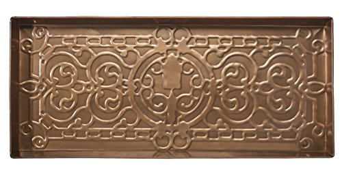 HF by LT Garden Design Trowel Metal Boot Tray, 30'' X 13'', Antique Copper Finish by HOME FURNISHINGS BY LARRY TRAVERSO