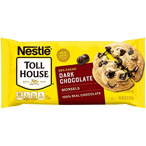(Nestle TOLL HOUSE Dark Chocolate Morsels, 10 Ounce)