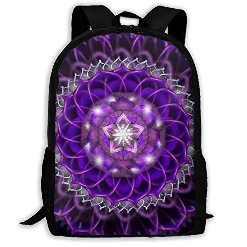 LoveBea Backpack Purple Mandala Mens School Backpacks Daypack ()