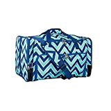 Wildkin Weekender Duffel Bag, Features Removable Shoulder Strap and Moisture-Resistant Lining, Carry-On Size, Perfect for Sleepovers, Sports Practice, and Travel – Zigzag Lucite