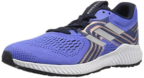 adidas Women's Aerobounce 2 Running Shoe, Real Lilac/Silver Metallic/Clear Orange, 6 M US