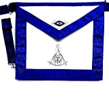 D2565 Apron Masonic Past Master with Silver & Gold Bullion No Square