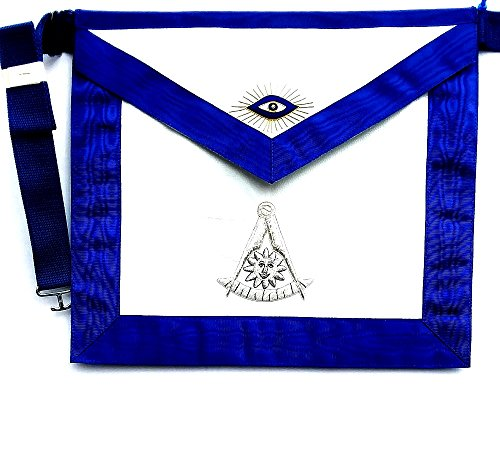 D2565 Apron Masonic Past Master with Silver & Gold Bullion No Square by DEAN & ASSOCIATES