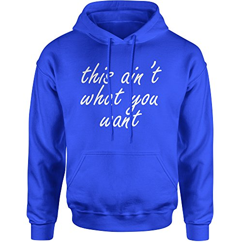 Hoodie King's Dead That Aint What You Want Adult XX-Large Royal - 3119 Rb