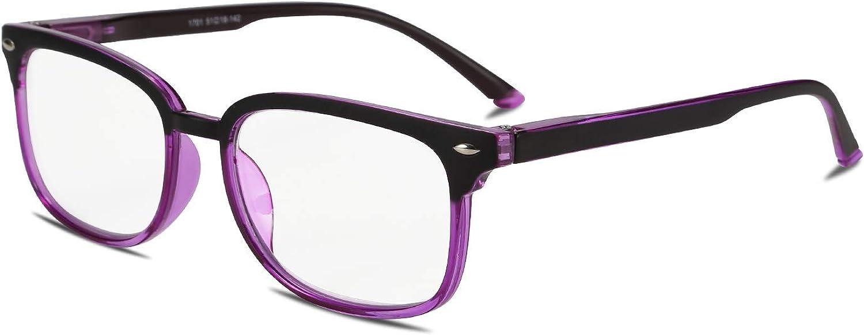 FEISEDY Progressive Multifocal Reading Glasses Blue Light blocking Reader Glasses TR90 Frame Women Men B2497