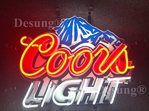 Amazon.com: Desung Coors luz de montaña neón señal de luz HD ...