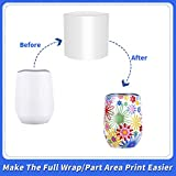 6x7 Inch Sublimation Shrink Wrap Sleeves, 60 Pcs