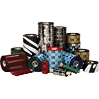 Zebra Technologies 03200BK11045 3200 Wax/Resin Ribbon, 4.33 W x 1476 L, 1 Core (Pack of 6)