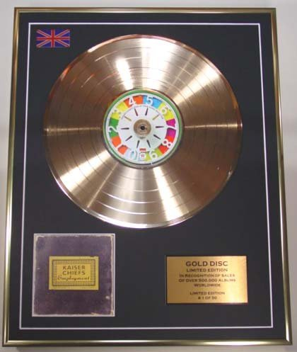 Record Of Employment - EC KAISER CHIEFS/Cd Gold Disc Record Limited Edition/EMPLOYMENT