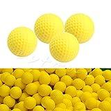 Kocome 10pcs PU foam Golf Balls Yellow Training Indoor Outdoor Golfer Club Practice Aid