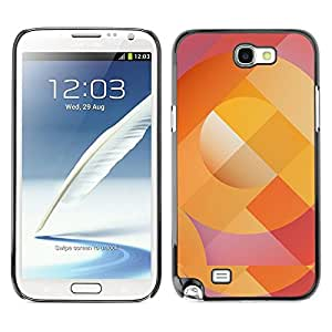 All Phone Most Case / Hard PC Metal piece Shell Slim Cover Protective Case for Samsung Note 2 N7100 Abstract Lines Pattern Orange Purple