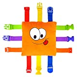 "BUCKLE TOY ""Bizzy"" - Toddler Early Learning Basic Life Skills Children's Plush Travel"