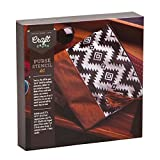 Craft Crush Stencil Purse - Design Your Own Stylish Canvas & Faux Suede Clutch - Crafting Kit Teens & Adults