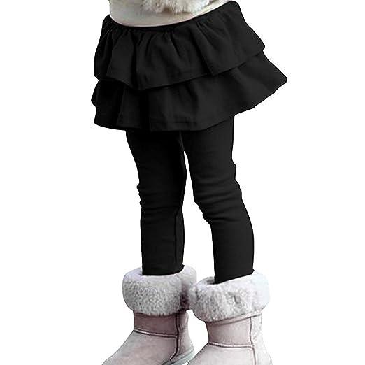 ZIYOYOR Kids Girls Rabbit Printed Winter Fleece Leggings Pants Bottoms