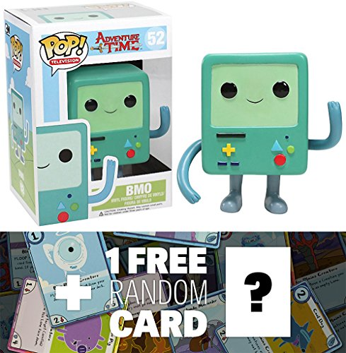 Funko POP BMO Vinyl Figure with Adventure Time Trading Card Bundle [32771]
