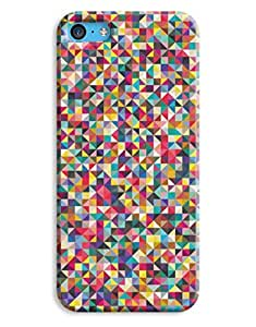 Indie Colour Triangles Pattern Design iPhone 5c Hard Case Cover