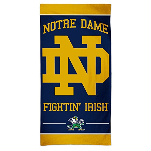 WinCraft NCAA Notre Dame Fighting Irish Beach Towel, Team Color, One - Colors Team Dame Notre
