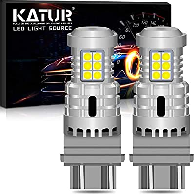 KATUR 3157 3057 T25 P27/7W LED Bulbs Super Bright 12pcs 3030 & 8pcs 3020 Chips Canbus Error Free Replace for Turn Signal Reverse Brake Tail Stop Parking RV Lights,Xenon White(Pack of 2): Automotive