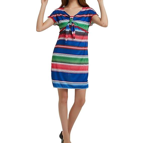 Amosfun Vestido De Fiesta De Fiesta Mexicana Para Mujer